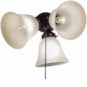 """Maxim Basic Max 12"""" 3-Light Ceiling Fan Light Kit in Oil Rubbed Bronze"""