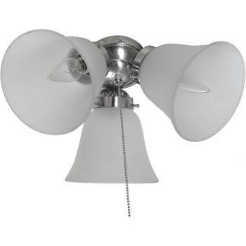 "Maxim Lighting Basic Max 12"" 3-Light Ceiling Fan Light Kit in Satin Nickel"