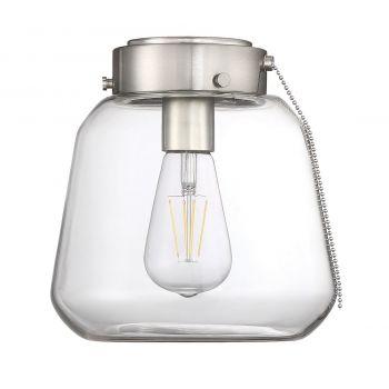 """Savoy House Mclean 8.5"""" Fan Light Kit in Satin Nickel"""