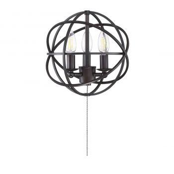 "Savoy House North 10.5"" 3-Light Fan Light Kit in English Bronze"