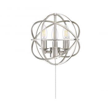"Savoy House North 10.5"" 3-Light Fan Light Kit in Satin Nickel"