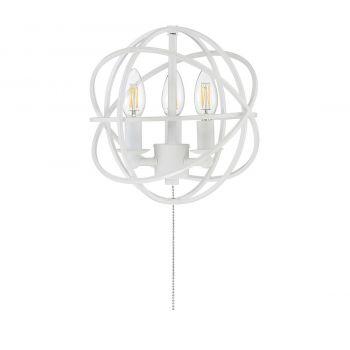 "Savoy House North 10.5"" 3-Light 2700K Fan Light Kit in Aged Wood"