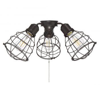 "Savoy House Heath 18.9"" 3-Light Fan Light Kit in English Bronze"