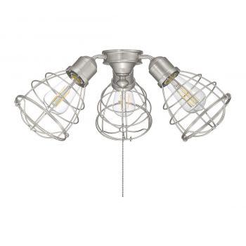 """Savoy House Heath 18.9"""" 3-Light Fan Light Kit in Satin Nickel"""