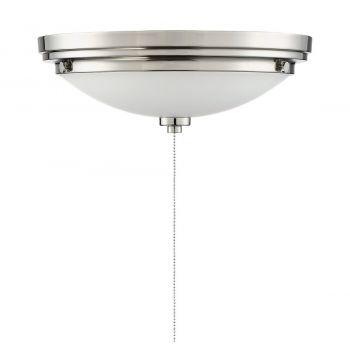 "Savoy House Lucerne 12"" LED White Opal Fan Light Kit in Satin Nickel"