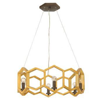 Fredrick Ramond FR38015SSG Moxie 6-Light Single Tier in Sunset Gold