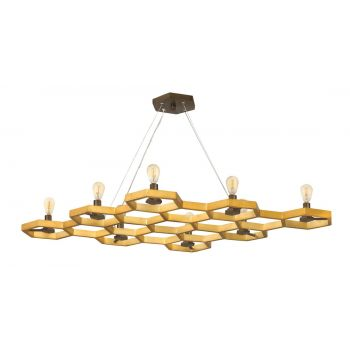 Fredrick Ramond FR38018SSG Moxie 8-Light Linear in Sunset Gold