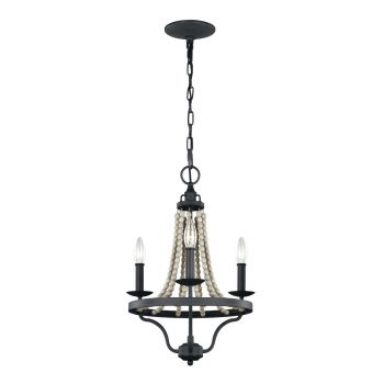 Feiss Nori Pendant in Dark Weathered Zinc/Driftwood Gray