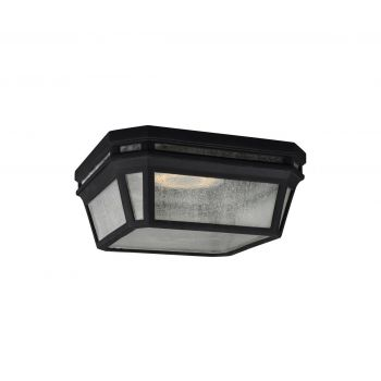 """Feiss Londontowne LED 11.75"""" Outdoor Flush Mount in Black"""