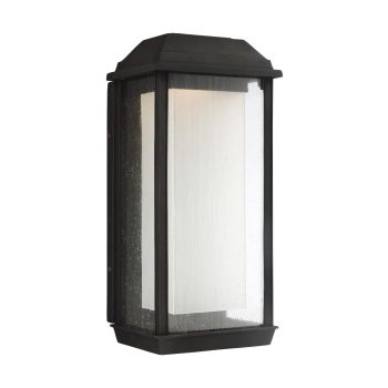 Feiss McHenry Large StoneStrong Outdoor LED Wall Lantern in Textured Black