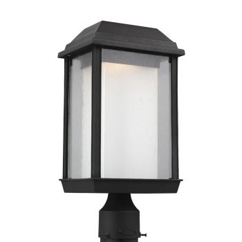 Feiss McHenry Large Outdoor LED Post Lantern in Textured Black