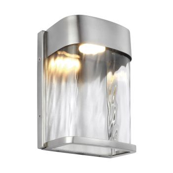 Feiss Bennie LED Outdoor Wall Lantern in Painted Brushed Steel
