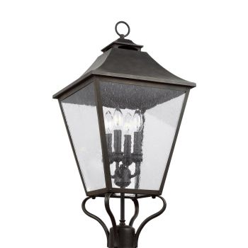 Feiss Galena 4-Light Post/Pier Lantern in Sable