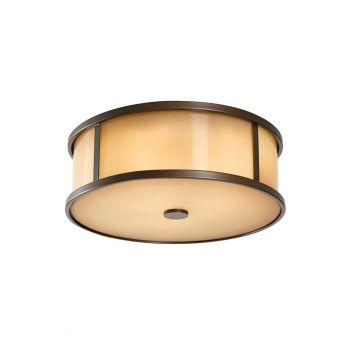 Feiss Dakota 2-Light LED Flush Mount in Heritage Bronze