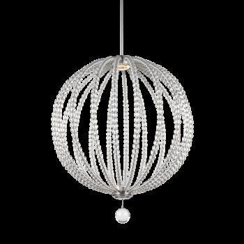 "Feiss Oberlin 43"" Modern LED Pendant in Satin Nickel"