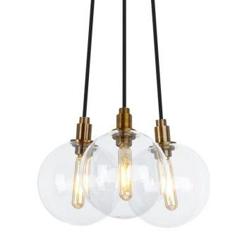 """Tech Lighting Gambit 10"""" 3-Light LED 2700K Chandelier in Aged Brass"""