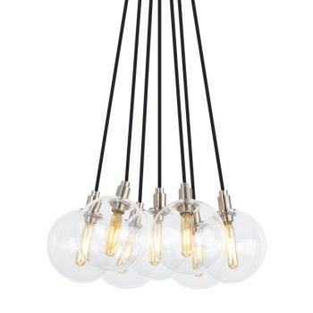 "Tech Lighting Gambit 15"" 7-Light LED 2700K Chandelier in Satin Nickel"