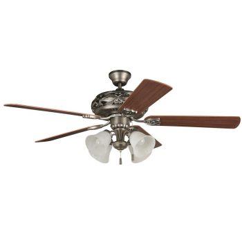 """Craftmade Grandeur 52"""" Ceiling Fan in Antique Nickel"""