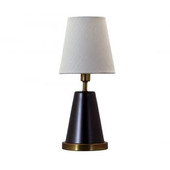 """House of Troy Geo 13"""" Cone Accent Lamp in Mahogany Bronze/Weathered Brass"""