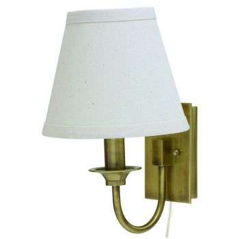House of Troy Wall Pin-up Lamp in Antique Brass Finish