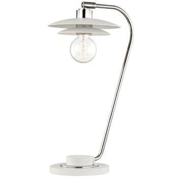 "Mitzi Milla 20"" Table Lamp in Polished Nickel"