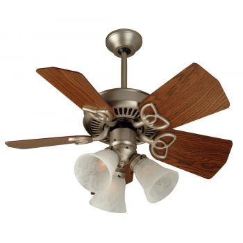 Craftmade Piccolo 3-Light Ceiling Fan w/ Blades in Brushed Satin Nickel