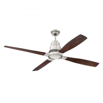 "Craftmade Ricasso 60"" Ceiling Fan in Brushed Polished Nickel"