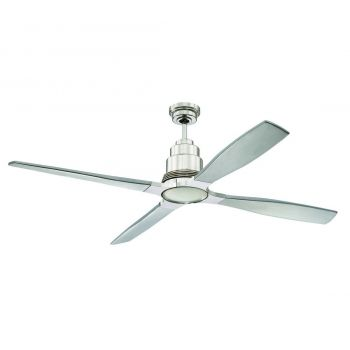 "Craftmade Ricasso 60"" Ceiling Fan in Polished Nickel"