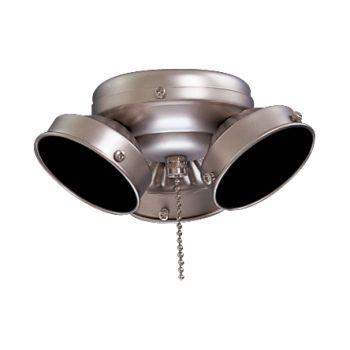 Minka-Aire 3 Bulb Light Kit in Brushed Steel