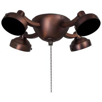 Minka-Aire 4 Bulb Light Kit in Dark Brushed Bronze