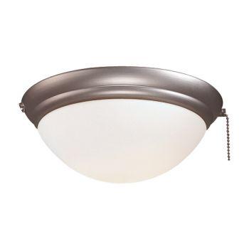 Minka-Aire 1 Bulb Light Kit in Brushed Steel