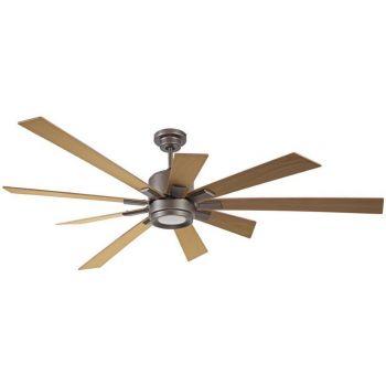 "Craftmade Katana 72"" Ceiling Fan w/ Rustic Oak Blades in Espresso"