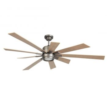 "Craftmade Katana 72"" Ceiling Fan w/ Rustic Oak Blades in Pewter"