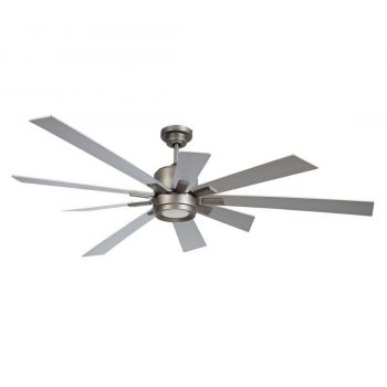 "Craftmade Katana 72"" Ceiling Fan w/ Titanium Blades in Pewter"