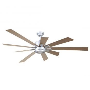 "Craftmade Katana 72"" Ceiling Fan w/ Rustic Oak Blades in Titanium"