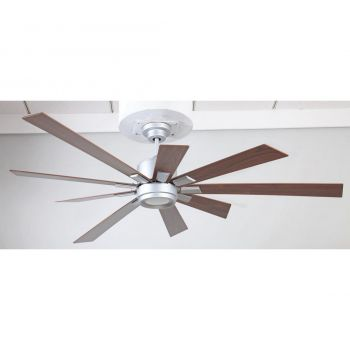 "Craftmade Katana 72"" Ceiling Fan w/ Walnut Blades in Titanium"