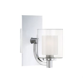 "Quoizel Kolt Modern 9"" Bathroom Wall Sconce in Polished Chrome"