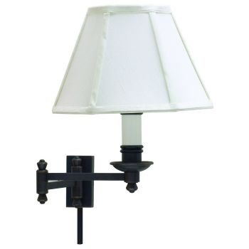 House of Troy Decorative Swing-Arm Wall Lamp Oil Rubbed Bronze