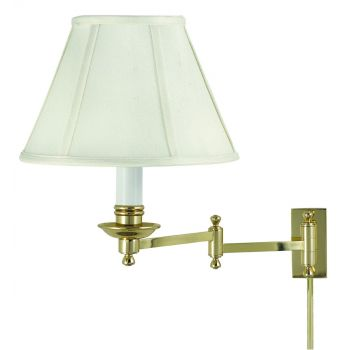 House of Troy Decorative Swing-Arm Wall Lamp in Polished Brass Finish