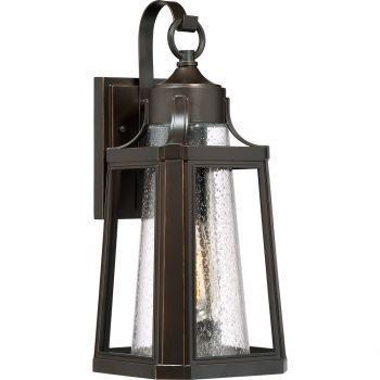 """Quoizel Lighthouse 16.75"""" Clear Outdoor Wall Lantern in Palladian Bronze"""