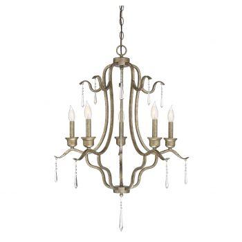 Trade Winds Lighting 5-Light Chandelier in Antique Gold