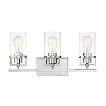 Trade Winds 3-Light Bathroom Vanity Light in Chrome