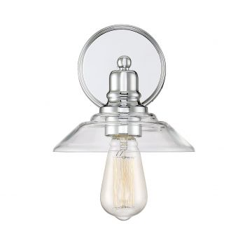 Trade Winds Loft 1-Light Sconce in Chrome
