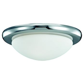 "Monte Carlo 10"" Matte Opal Glass in Polished Nickel"