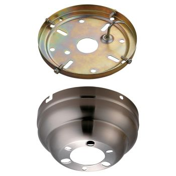 "Monte Carlo 5.31"" Flush Mount Canopy Fan Kit in Brushed Steel"