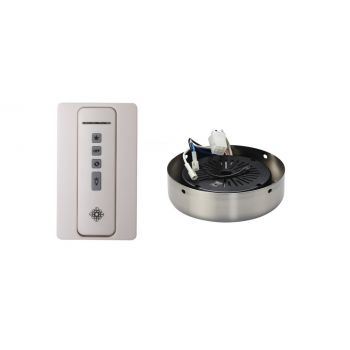 Monte Carlo NEO Hand Held White Remote/Receiver Hub in Brushed Steel