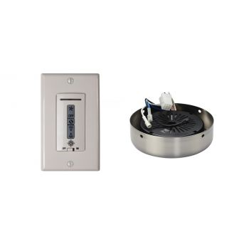 Monte Carlo Wired Wall Remote w/ Almond Switch Plate & Receiver Hub in Brushed Steel