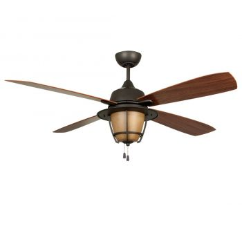 Craftmade Morrow Bay 3-Light Ceiling Fan with Blades in Espresso