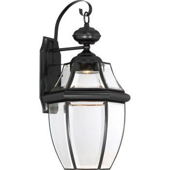 "Quoizel Newbury 20"" Clear LED Outdoor Wall Lantern in Mystic Black"
