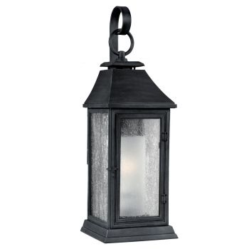 "Feiss Shepherd 19.13"" Outdoor Wall Sconce in Dark Weathered Zinc"